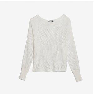 Open Stitch Dolman Sweater
